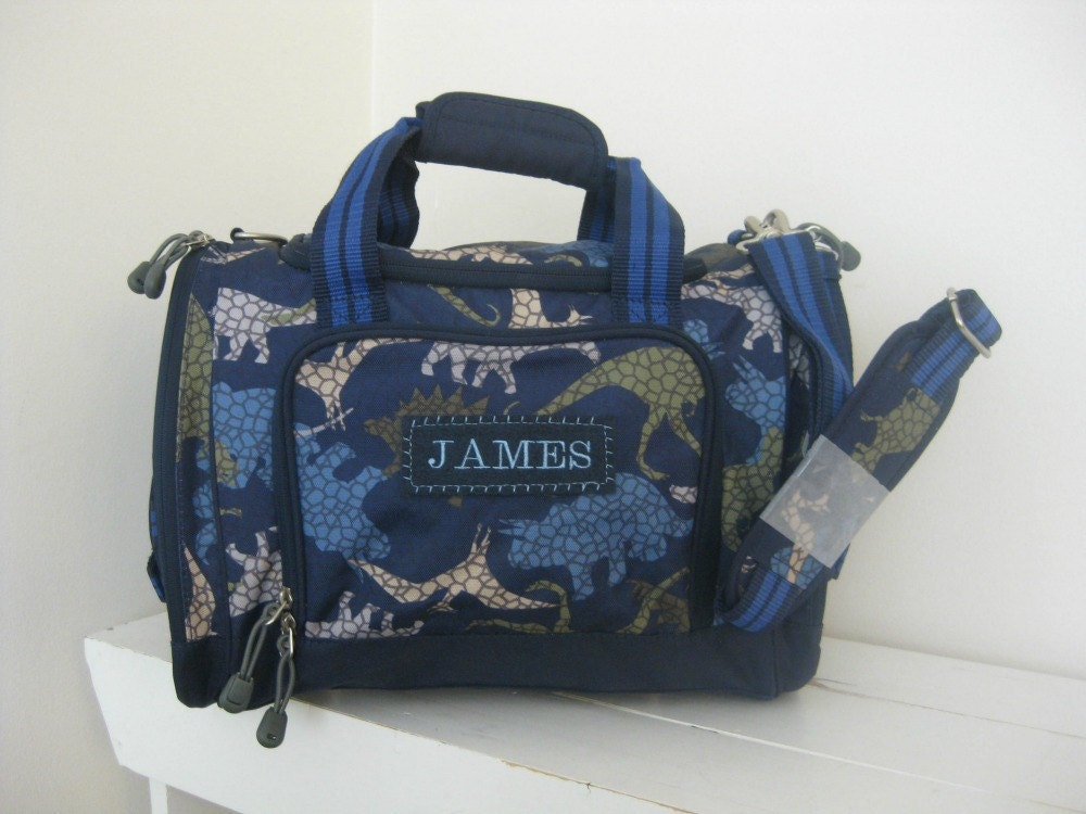 Boys Duffle Bag With Monogram Pottery Barn Small Size