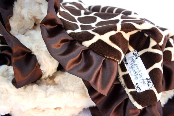 Giraffe Minky Baby Blanket-Monogramming now available