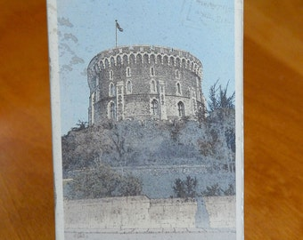 vintage photo postcard of Windsor Castle London photography by chris peters