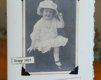 Vintage Photo Notecard Little girl free shipping chris peters mementos of the journey