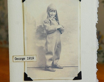 Antique Photo Little Boy Notecard