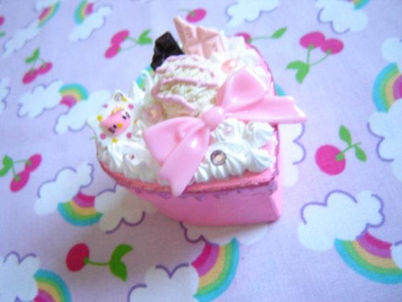 Ice Cream Whipped Cream Decoden Trinket Box