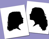 Children Silhouette Portrait - Sibling Special Price