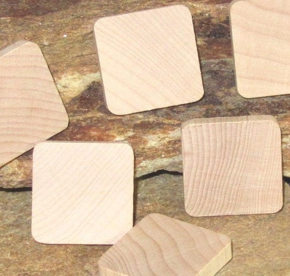 100 wood tiles for pendants, tie tack, pins, maganets, what ever you want - larger than scrabble - nice wood
