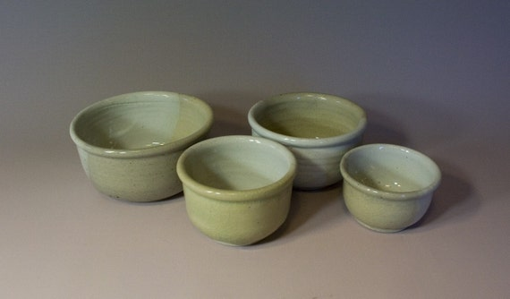 White and Celadon Nesting Bowls