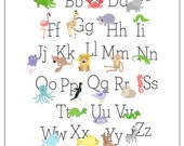 "Alphabet Poster, capital & lowercase letters (11""x17"" vertical)"