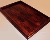 25x17 Red Mahogany Stained Ottoman Tray