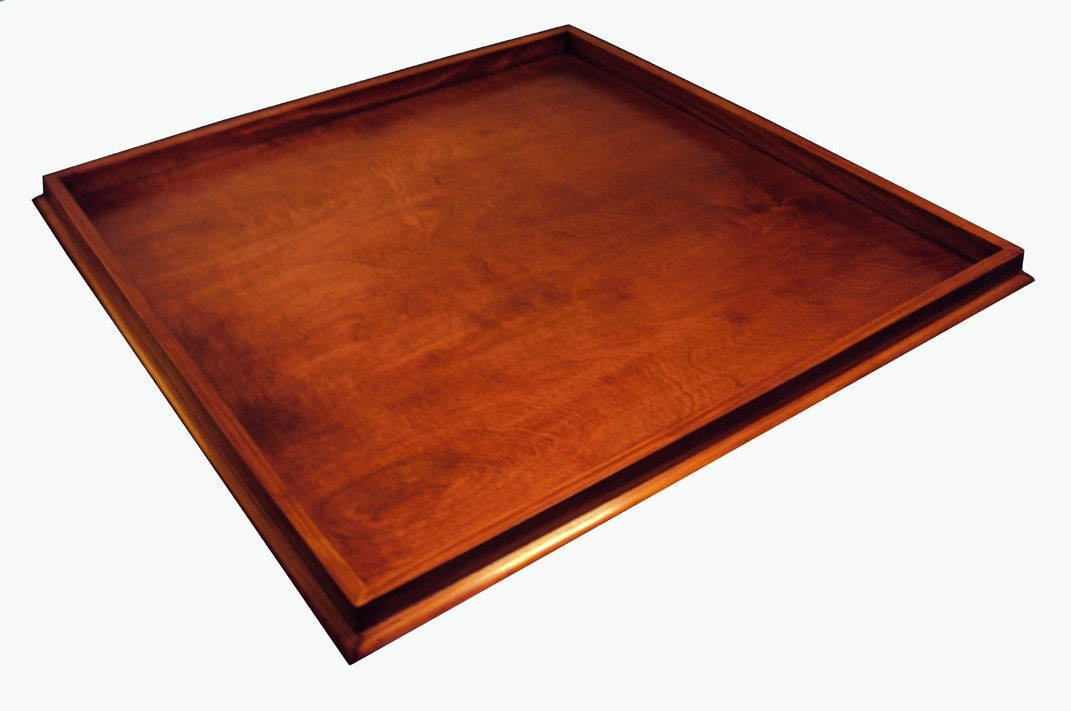 Large Wooden Ottoman Tray