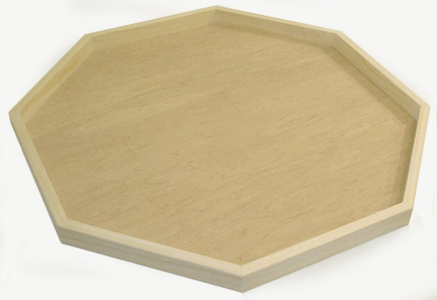 36x36 Raw Octagon Ottoman Tray Ready To Ship By