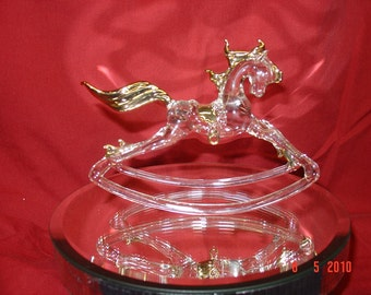 Glass Rocking Horse