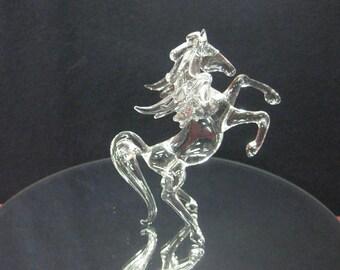Small glass pegasus rearing