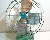 Vintage Table Fan Wizard Light Blue - Western Auto Supply Co