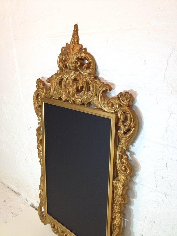 Vintage Frame Chalkboard Gold Ornate Framed Chalk Board Memo Board