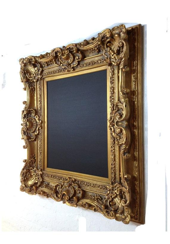 Large Chalk Board Framed in Vintage Gold Gesso Frame Gilded Chalkboard Wedding Kitchen etc