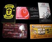 "500 Business Cards or hang tags - 14 PT glossy -  3.5""x2"" - custom Printed UV coated"