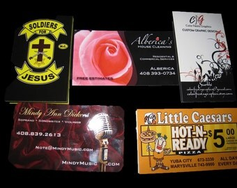 """500 Business Cards or hang tags - 14 PT glossy -  3.5""""x2"""" - custom Printed UV coated"""