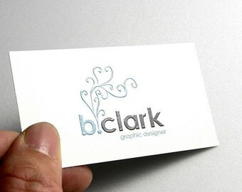 1000 Business Cards - Raised ink - 16 PT heavy silky matte stock -  custom printed