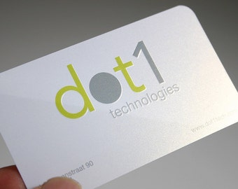 200 Business Cards - ink press embossing - 16PT heavy silky matte stock -  custom printed