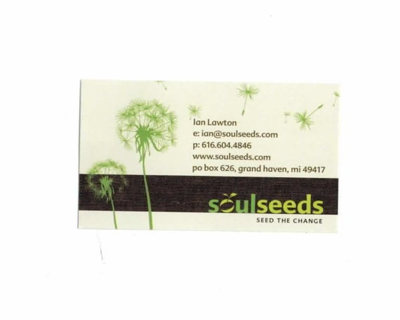 250 business cards - 13 pt 100% recycled paper stock environment-friendly - custom printed