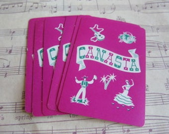 Vintage Canasta Playing Cards- Set of 10
