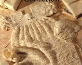 2 Beautiful Vintage Crochet Christening Sets in PDF Format ADSPDF001