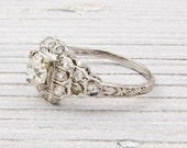 Antique .70 Carat Diamond Engagement Ring