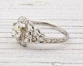 Antique .70 Carat Diamond Engagement Ring