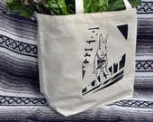 Bunny RABBIT TOTE BAG perfect for Bunny's lunch from the Greenmarket