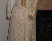 Cream&Gold  Beaded Dress