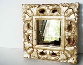 Small Ornate Antique Repro Mirror