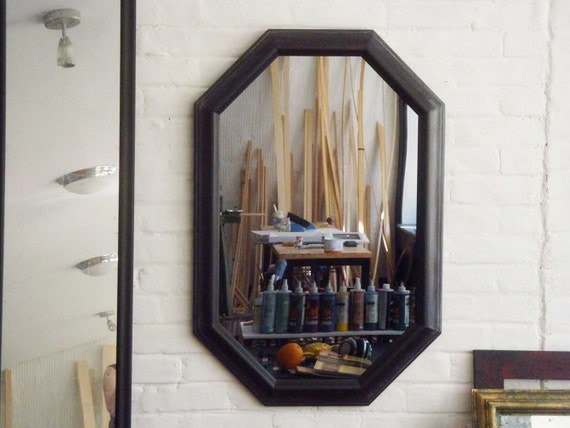 Octagon Wall Mirror & Vintage Frame