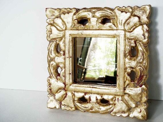 Small Ornate Antique Repro Mirror
