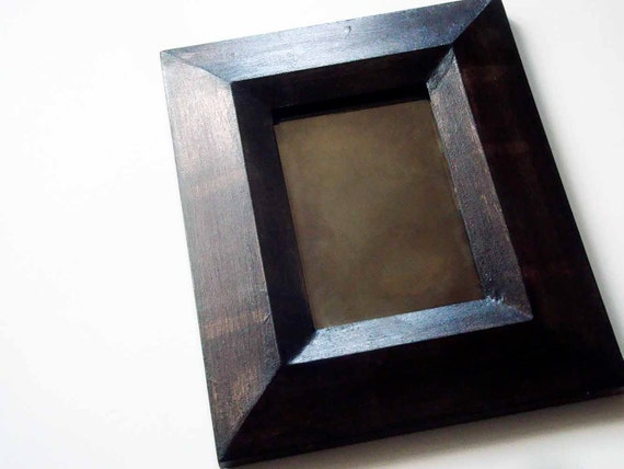 Tarnished Copper Double-Bevel Mirror