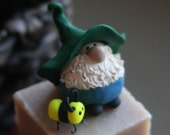 Mr. Pick-a-Gnome and his Pet Bumblebee