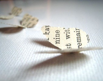 Love is like a butterfly ... 500 vintage paper hand punched butterflies for wedding table decoration . recyled