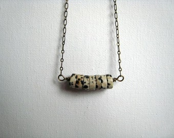 The Sirens of Titan                        ..... a dalmation jasper and brass necklace