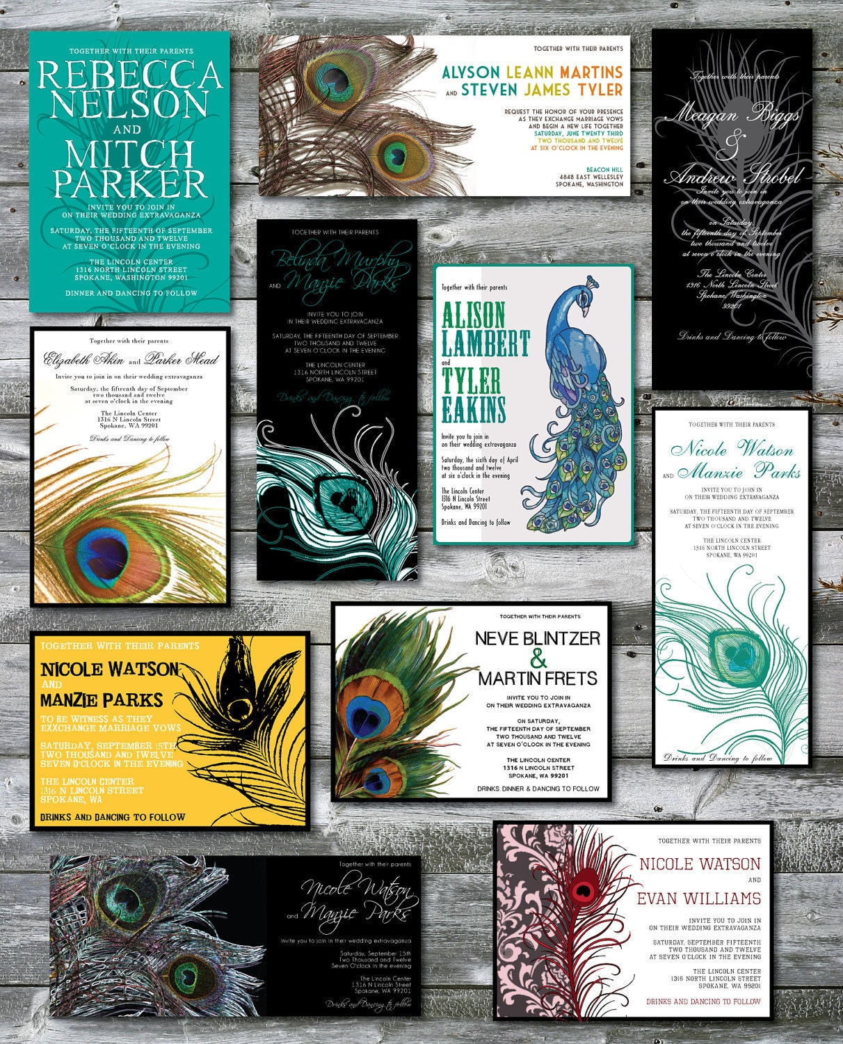 Peacock Wedding Ideas Etsy: Peacock Themed Wedding Invitations By Papermadeinvites On Etsy