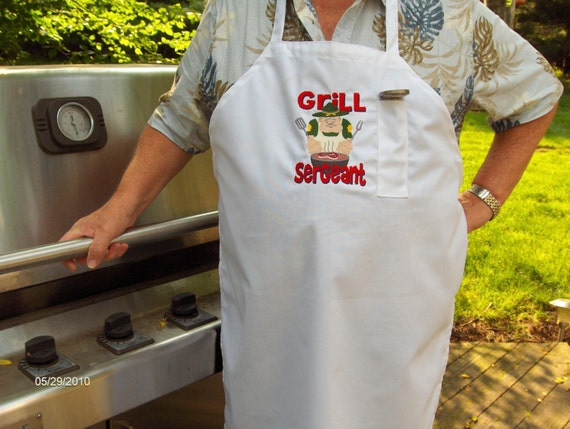 Barbecue Apron-Fathers Day-with chefs hat
