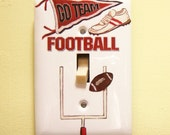 Football steel single lightswitch cover