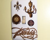 Paris themed steel single light switch cover