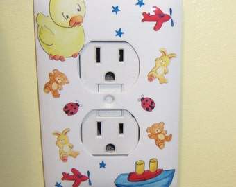 Baby themed steel outlet  cover