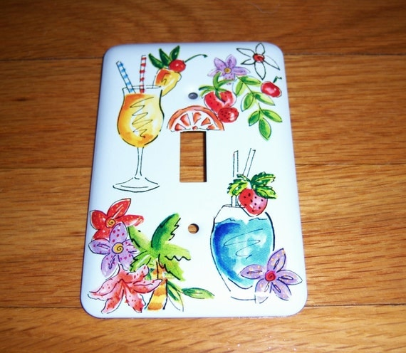 Adult beverage steel light switch cover