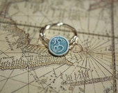 Om Ring Silver Wire wrapped Balancing stones