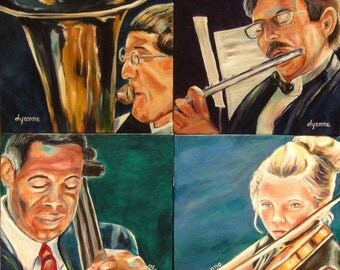 Quartet 4 Paintings Free Shipping in US