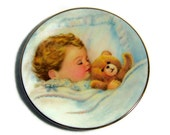 Vintage Baby Gift Collector Plate Baby Boy 1990s Avon Fine China