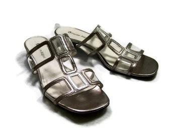 Metallic Sandals Size 8 Vintage Ettiene Aigner Gladiators