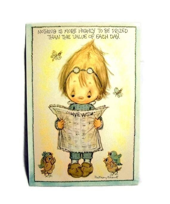 VINTAGE POSTCARD 1970s Betsey Clark Positive Affirmations