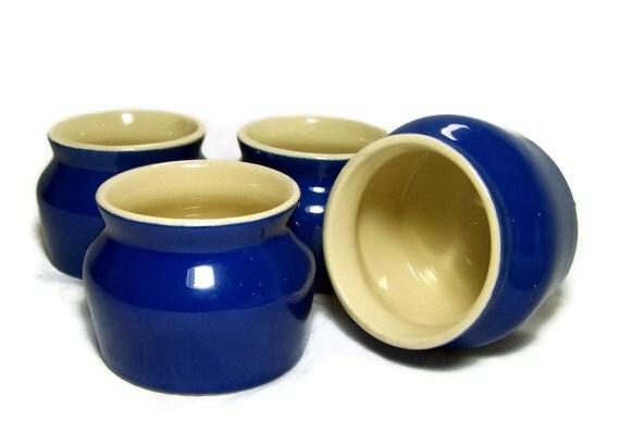 Vintage Stoneware Crocks Cobalt Blue Rustic Kitchen