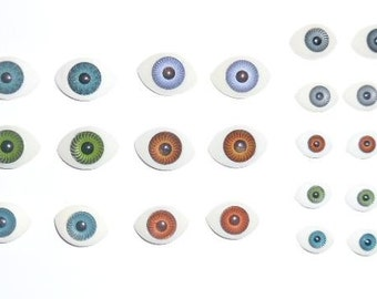 440 (220 pairs) doll eyes repair parts 8X11mm  - 12x16mm Mix color