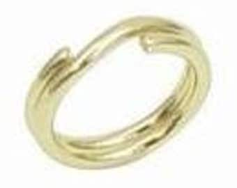 100 pcs. gold plated  split jump rings 4 mm